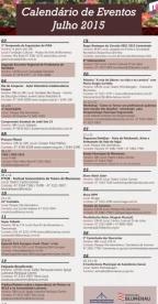 Calendário de eventos Julho